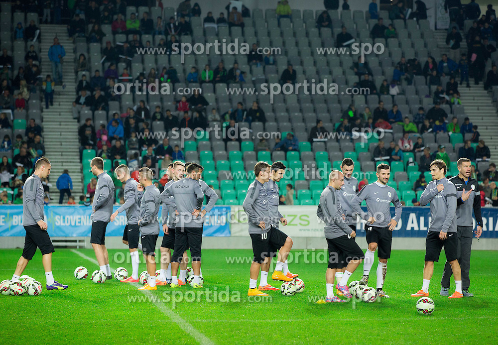 Players during practice session of Slovenian National football Team before EURO 2016 Qualification game against England, on November 11, 2014 in SRC Stozice, Ljubljana, Slovenia. Photo by Vid Ponikvar / Sportida