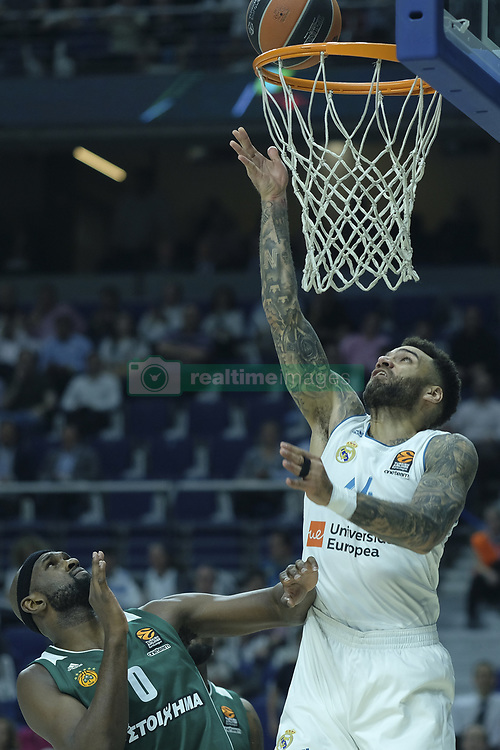 April 25, 2018 - Madrid, Madrid, Spain - JEFFERY TAYLOR  of Real Madrid during the Turkish Airlines Euroleague play-off quarter final series third match between Real Madrid and Panathinaikos Superfoods at the Wizink Center in Madrid, Spain on April 25, 2018  (Credit Image: © Oscar Gonzalez/NurPhoto via ZUMA Press)