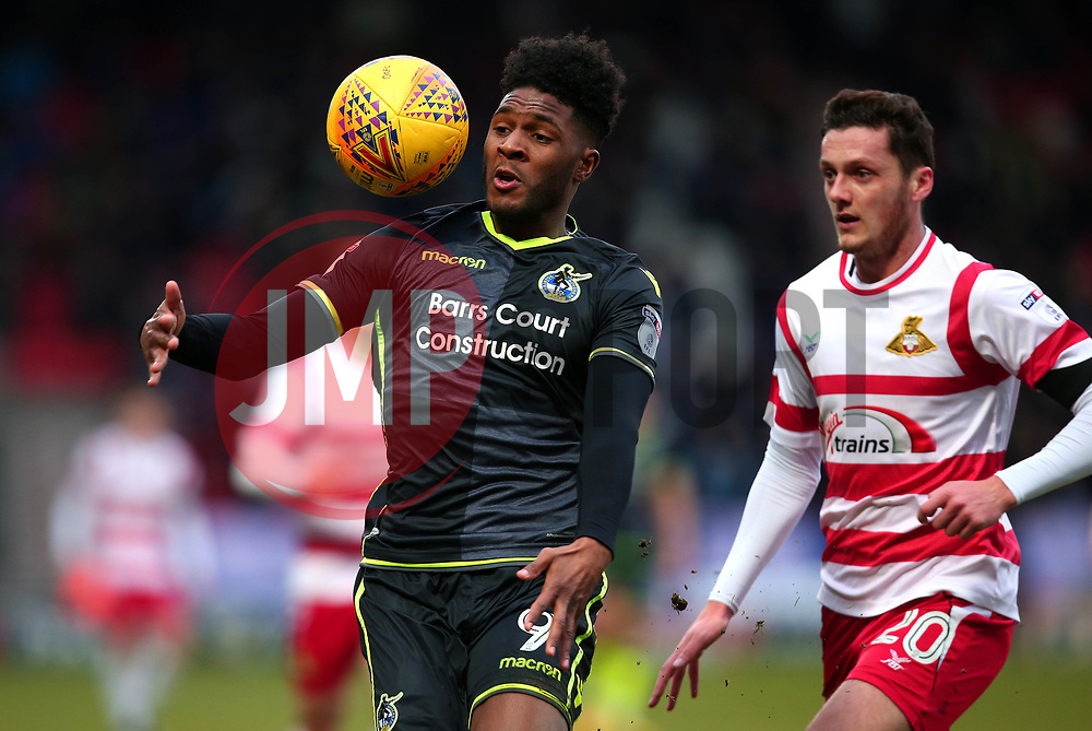Ellis Harrison of Bristol Rovers controls the ball - Mandatory by-line: Robbie Stephenson/JMP - 27/01/2018 - FOOTBALL - The Keepmoat Stadium - Doncaster, England - Doncaster Rovers v Bristol Rovers - Sky Bet League One