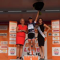 30-08-2016: Wielrennen: Ladies Tour: Tiel      <br /> TIEL (NED) wielrennen    <br /> De Boels Ladies Tour begon met een etappe door de Betuwe<br /> NIEWIADOMA Katarzyna (RaboLiv Womencyclingteam) strijdlustigste renster