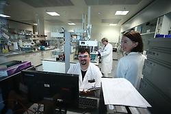 05.04.2016, Zagreb, CRO, Pharmaunternehmen Pliva, im Bild Mit 90 Jahren erfolgreiche Pharma Erfahrung ist PLIVA ein Mitglied der Teva-Gruppe, eines der größten Pharmaunternehmen der Welt. Pliva ist in mehr als 30 Ländern vertreten und ist das führende Pharmaunternehmen mit Sitz in Mittel- und Osteuropa. Es ist spezialisiert auf die Entwicklung, Herstellung und den Vertrieb von Generika-Produkten, einschließlich Biologika, Zytostatika und andere Generika sowie pharmazeutische Wirkstoffe enthalten. // Pliva d.o.o. is a Croatian pharmaceutical company, based in Zagreb, Croatia. With 90 years of successful pharmaceutical experience, PLIVA is today a member of the Teva Group, one of the largest pharmaceutical companies in the world. Pliva operates in over 30 countries worldwide and is the leading pharmaceutical company based in Central and Eastern Europe. It specializes in the development, production and distribution of generic pharmaceutical products, including biologicals, cytostatics, and other generics, as well as active pharmaceutical ingredients at Zagreb, Croatia on 2016/04/05. EXPA Pictures © 2016, PhotoCredit: EXPA/ Pixsell/ Sanjin Strukic<br /> <br /> *****ATTENTION - for AUT, SLO, SUI, SWE, ITA, FRA only*****