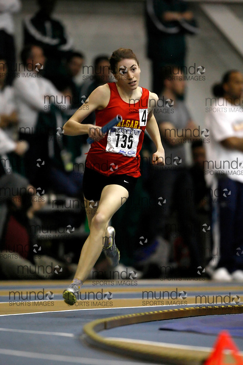 Windsor, Ontario ---14/03/09--- Holly Ratzlaff of  the University of Calgary competes in the 4x400m relay at the CIS track and field championships in Windsor, Ontario, March 14, 2009..Claus Andersen Mundo Sport Images