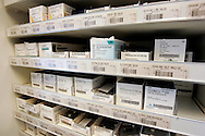 The Hague. Hospital. MCH. Medisch Centrum Haaglanden. Medicine at the pharmacy..Photo: Gerrit de Heus