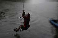 Rope swing, Cane Creek tributary, Catawba River
