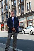 Brian Murray, Founder and CEO of Washington Street Properties, in front of the Solar Building in Watertown, New York on August 11, 2014.