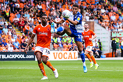 Tyler Smith of Bristol Rovers controls the ball ahead of Curtis Tilt of Blackpool - Mandatory by-line: Robbie Stephenson/JMP - 03/08/2019 - FOOTBALL - Bloomfield Road - Blackpool, England - Blackpool v Bristol Rovers - Sky Bet League One