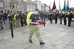 ©under license to London News Pictures. 04/11/2010 -  The RAF team start The March for Honour from the War Memorial in Stamford..A fellow soldier is paying tribute for killed colleagues.