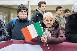 Waiting expectantly for a glimpse of the riders at sign in - 2016 Strade Bianche - Elite Women, a 121km road race from Siena to Piazza del Campo on March 5, 2016 in Tuscany, Italy.