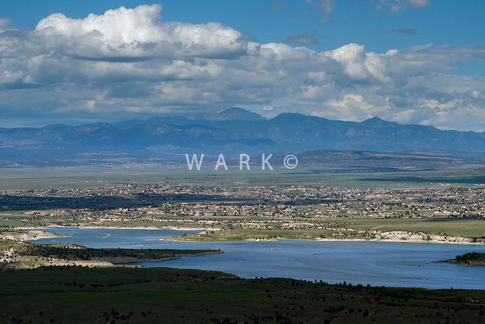 Lake Pueblo, Pueblo West and Pikes Peak. Aug 23, 2014.  813106