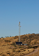Radar technology on a tower that has a camera mounted on top aids U.S. Border Patrol agents along the international border iwith Mexico near Rio Rico, about 20 miles northwest of  Nogales, Arizona, USA.