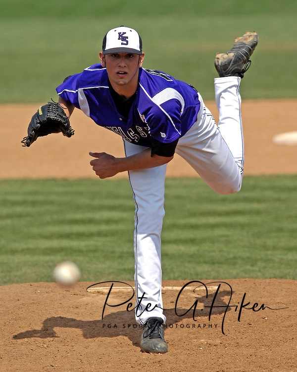 Kansas State's Ben Hornbeck piched 2 1/3rd innings of relief against Texas.  The 9th ranked Longhorns held on to beat K-State 10-9 in 10 innings at Tointon Stadium in Manhattan, Kansas, April 9, 2006.