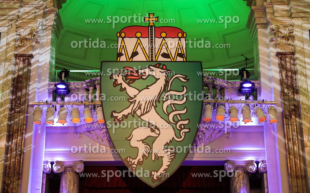 12.01.2018, Hofburg, Wien, AUT, Steirerball, im Bild das Landeswappen der Steiermark // during the Styrian Ball in the Hofburg, Vienna, Austria on 2018/01/12, EXPA Pictures © 2017, PhotoCredit: EXPA/ Martin Huber