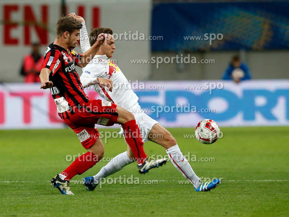 19.05.2016, Woerthersee Stadion, Klagenfurt, AUT, OeFB Samsung Cup, FC Admira Wacker Moedling vs FC Red Bull Salzburg, Finale, im Bild Dominik Starkl (FC Admira Wacker Mödling) und Benno Erik Schmitz (FC Red Bull Salzburg). // during the OeFB Samsung Cup final match between FK Austria Wien and FC Red Bull Salzburg at the Woerthersee Stadion in Klagenfurt, Austria on 2016/05/19. EXPA Pictures © 2016, PhotoCredit: EXPA/ Wolfgang Jannach