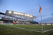 13 December 2013: New Mexico players warm up before the game. The University of Notre Dame Fighting Irish played the University of New Mexico Lobos at PPL Park in Chester, Pennsylvania in a 2013 NCAA Division I Men's College Cup semifinal match. Notre Dame won the game 2-0.
