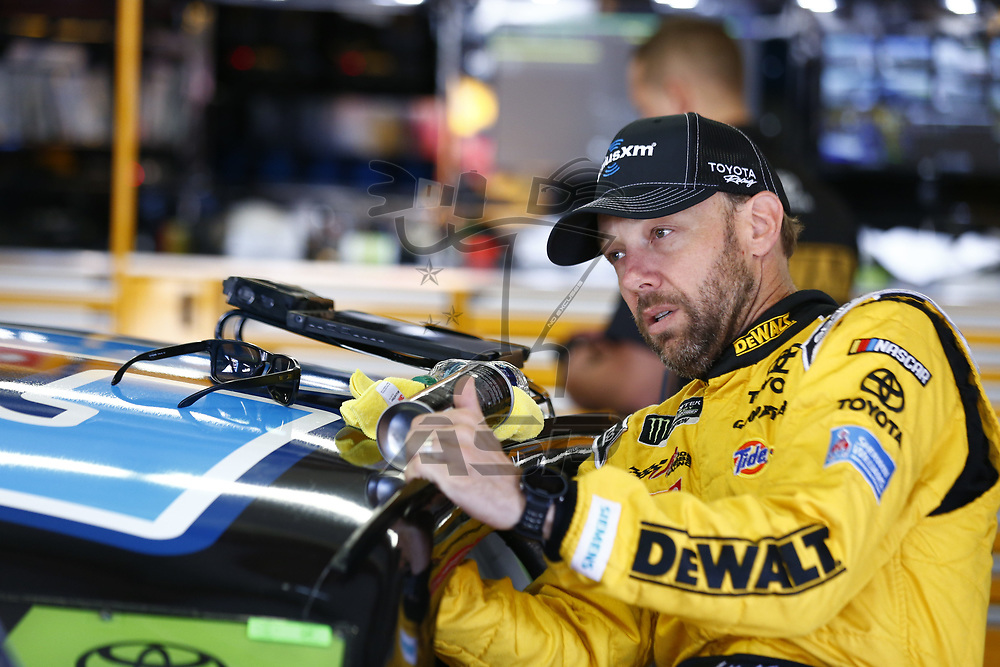 September 23, 2017 - Loudon, New Hampshire, USA: Matt Kenseth (20) hangs out in the garage during practice for the ISM Connect 300 at New Hampshire Motor Speedway in Loudon, New Hampshire.