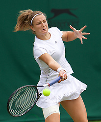 LONDON, ENGLAND - Wednesday, July 3, 2019: Karolina Muchova (CZE) during the Ladies' Singles second round match on Day Three of The Championships Wimbledon 2019 at the All England Lawn Tennis and Croquet Club. (Pic by Kirsten Holst/Propaganda)