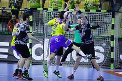 Arthur Malburg Patrianova #29 of RK Celje Pivovarna Lasko during handball match between RK Celje Pivovarna Lasko (SLO) and Besiktas J.K. (TUR)  in 14th Round of EHF Men's Champions League 2015/16, on March 5, 2016 in Arena Zlatorog, Celje, Slovenia. (Photo by Ziga Zupan / Sportida)