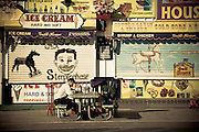 Front of a closed ice cream store on the Coney Island boardwalk, Brooklyn, New York, 2010.