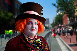 July 20, 2017 - San Diego, California, U.S. - NICOLE BAKER of San Diego dressed as the Mad Hatter at Comic-Con in San Diego. (Credit Image: © K.C. Alfred/San Diego Union-Tribune via ZUMA Wire)