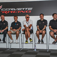 Corvette Racing, Meet the Team: (l-r) Jordan Taylor, Jan Magnussen, Antonio Garcia, Doug Fehan,  Oliver Gavin, Tommy Milner, Marcel Fassler on 15/06/2017 at the 24H of Le Mans, 2017