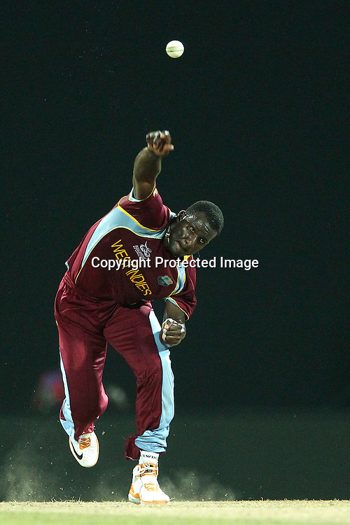 Darren Sammy (Captain) of The West Indies during the ICC World Twenty20 Super 8s match between Sri Lanka and The West Indies held at the  Pallekele Stadium in Kandy, Sri Lanka on the 29th September 2012<br /> <br /> Photo by Ron Gaunt/SPORTZPICS