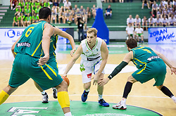 Jaka Blazic of Slovenia during friendly basketball match between National teams of Slovenia and Australia, on August 3, 2015 in Arena Tri lilije, Lasko, Slovenia. Photo by Vid Ponikvar / Sportida