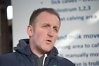 John Donoghue who hosted   a calf care event organised by Aurivo's Farm Profitability Programme, Teagasc and Animal Health Ireland. Photo:Andrew Downes, xposure