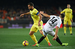 January 26, 2019 - Valencia, Valencia, Spain - Jose Luis Gaya of Valencia CF and Mario Gaspar of Villarreal CF during the La Liga Santander match between Valencia and Villarreal at Mestalla Stadium on Jenuary 26, 2019 in Valencia, Spain. (Credit Image: © AFP7 via ZUMA Wire)
