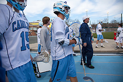 14 February 2009: North Carolina Tar Heels midfielder Jeff Muscatello (49) during the halftime of a 20-7 win over the Denver Pioneers on Fetzer Field in Chapel Hill, NC.