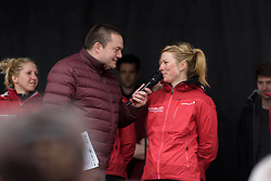 Lotta Lepsitö talks about being a favourite for the race at the Women's Ronde van Vlaanderen 2017 Team Presentation.