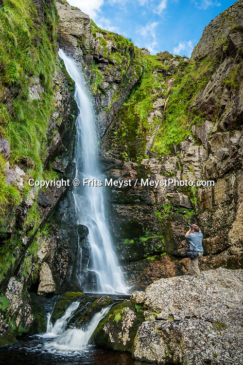 Waterford, Southern Ireland, August 2016.  Mahon Falls is an 80m waterfall nestled in the Comeragh Mountains near Lemybrien, County Waterford. take the scenic drive over through the Nire Valley  to Lismore -  A spectacularly beautiful drive, where the scenery climbs and dips and changes constantly to delight the eye at every turn in the road  A coastal road trip from Kilkenny to Cork via Wexford and Waterford.  Photo by Frits Meyst / MeystPhoto.com