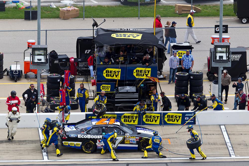 KANSAS CITY, KS - APR 22, 2012:  Matt Kenseth (17) races during the STP 400 at the Kansas Speedway in Kansas City, KS.