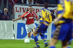 18-10-2001 VOETBAL: UEFA CUP FC UTRECHT - PARMA: UTRECHT<br /> Utrecht verliest met 3-1 van Parma / Stijn Vreven<br /> ©2001-WWW.FOTOHOOGENDOORN.NL
