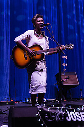 © Licensed to London News Pictures. 07/02/2013. London, UK.   Josephine performing live at Hammersmith Apollo, supporting headliner Paloma Faith.   Josephine Oniyama  is a soul singer from Manchester, UK.  Photo credit : Richard Isaac/LNP