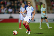 Jordan Nobbs (England) during the Euro 2017 qualifier between England Ladies and Belgium Ladies at the New York Stadium, Rotherham, England on 8 April 2016. Photo by Mark P Doherty.