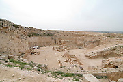 Israel, West Bank, Judaea, Herodion a castle fortress built by King Herod 20 B.C.E. The upper level of the castle