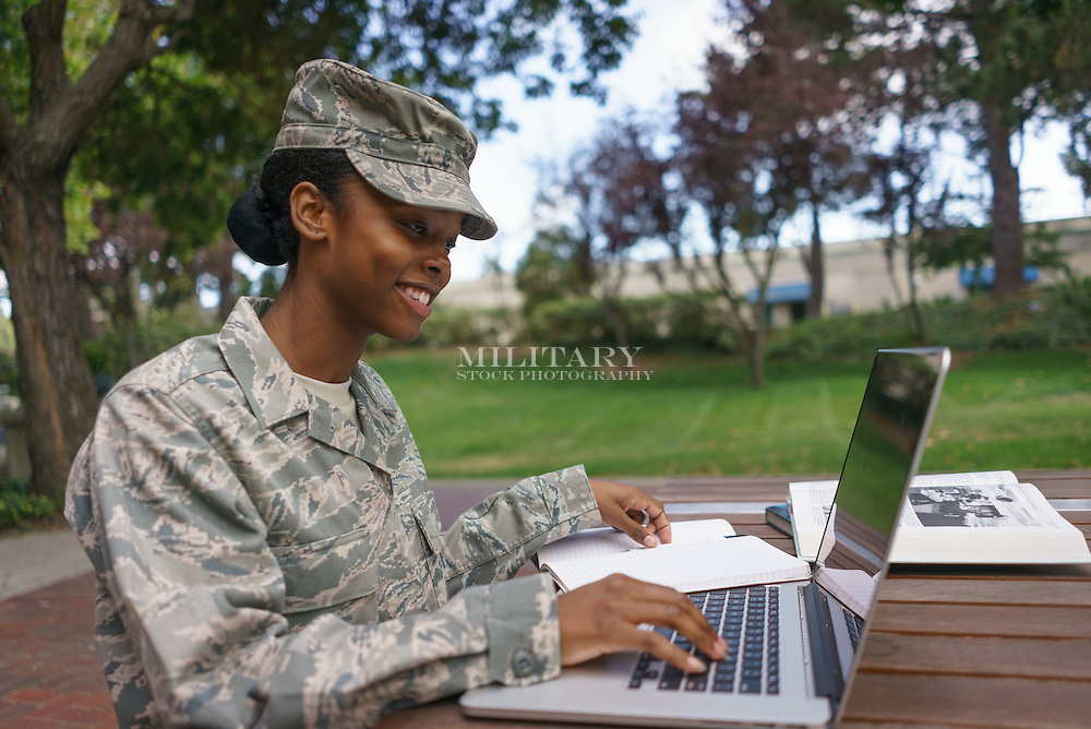 Model Released Military Stock Photo