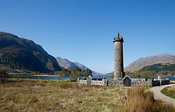 "Images taken on a beautiful sunny spring morning at Glenfinnan Monument.  Glenfinnan is a village in Lochaber area of the Highlands of Scotland. In 1745 The Jacobite Rising began when Prince Charles Edward Stuart (""Bonnie Prince Charlie"") raised his standard on the shores of Loch Shiel. Seventy years later, the 18 m (60 ft) Glenfinnan Monument, at the head of the loch, was erected to commemorate the historic event. .... (c) Stephen Lawson 