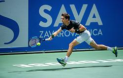 Aljaz Bedene of Slovenia playing Singles in Quarter - Final of ATP Challenger Zavarovalnica Sava Slovenia Open 2019, day 8, on August 16, 2019 in Sports centre, Portoroz/Portorose, Slovenia. Photo by Vid Ponikvar / Sportida