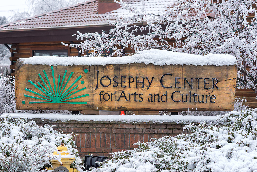 The Josephy Center For Arts & Culture on a winter day in Joseph, Oregon.