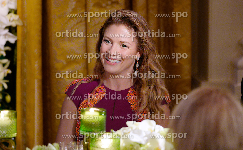 Mrs. Sophie Gr&eacute;goire Trudeau smiles during a state dinner at the White House honoring herself and Prime Minister Justin Trudeau of Canada March 10, 2016 in Washington, DC. EXPA Pictures &copy; 2016, PhotoCredit: EXPA/ Photoshot/ Olivier Douliery<br /> <br /> *****ATTENTION - for AUT, SLO, CRO, SRB, BIH, MAZ, SUI only*****