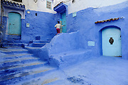 Chefchaouen, or Chaouen, is noted for its buildings in shades of blue. Founded in 1471 Chefchaouen served as fortress for exiles from Spain. Over the centuries, the city grew and welcomed Jews. Chefchaouen's blue buildings have more religious  than stylistic reasons. Jewish teachers suggest that by dyeing thread with tekhelel (an ancient natural dye) and weaving it into prayer shawls, people would be reminded of God's power.