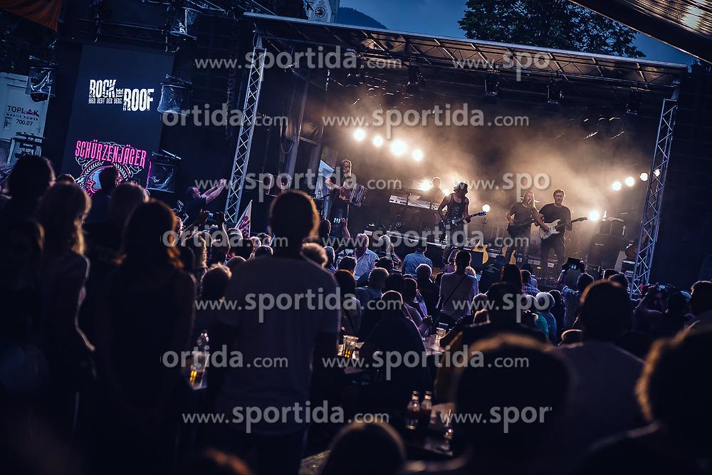 27.06.2019, Schladming, AUT, Rock the Roof 2019, im Bild Schürzenjäger Konzert // Schuerzenjaeger Concert during the Rock the Roof Biker Meeting in Schladming, Austria on 2019/06/27. EXPA Pictures © 2019, PhotoCredit: EXPA/ JFK