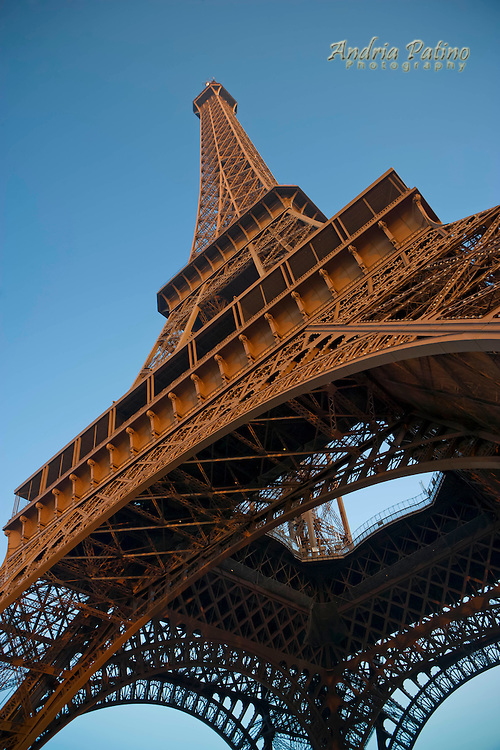 Close-up of The Eiffel Tower's iron  lattice work (Iron Lady)