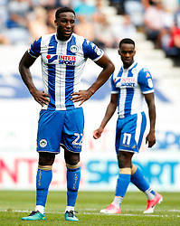 Wigan Athletic's Cheyenne Dunkley and Gavin Massey - Mandatory by-line: Matt McNulty/JMP - 13/08/2017 - FOOTBALL - DW Stadium - Wigan, England - Wigan Athletic v Bury - Sky Bet League One