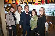 Lynn Mitchell, William McCauley, Thom Ciarniello, Theresa Gondel and  Michelle Moracco (L-R) all of Casal's de Spa and Salon during the Valley Magazine launch party at the Youngstown Crab Co. on Feb. 21, 2008.
