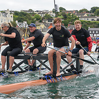 The RNLI Souper Trooper team competing in the RNLI raft race at the Kinsale Regatta over the weekend.<br /> Picture. John Allen
