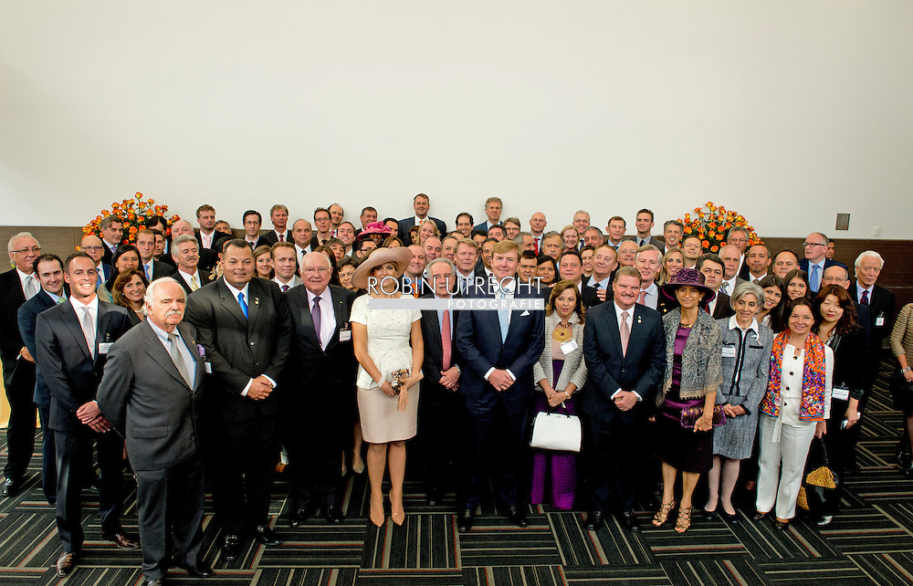 22-11-2013 COLOMBIA – BOGOTA King Willem Alexander of the Netherlands and Queen Maxima in BOGOTA and they open the Holland House in Bogota. COPYRIGHT ROBIN UTRECHT