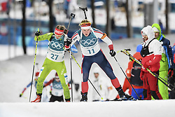 February 10, 2018 - Pyeongchang, GANGWON, SOUTH KOREA - Feb 10, 2018-Pyeongchang, South Korea-Marte OLSBU of Norway action on the snow during an Olympic Biathlon Women Sprint 7.5Km at Biathlon Center in Pyeongchang, South Korea. (Credit Image: © Gmc via ZUMA Wire)