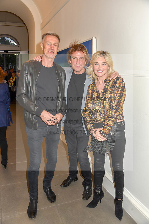Lee Chapman, Mark Armstrong and Anthea Turner at the START Art Fair - Preview Evening held at the Saatchi Gallery, Duke of York's HQ, King's Road, London on 25th September 2019.